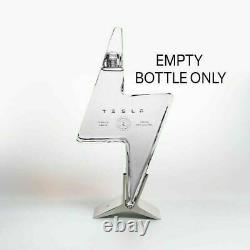 Tesla Empty Tequila Bottle And Stand NEW IN HAND SHIPS WITHIN 24HRS