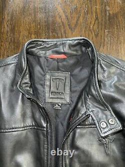 Tesla Leather Modena Jacket Rare Limited Edition Genuine Mens XL (elon Tequila)