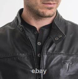 Tesla Leather Modena Rare Not Made Limited, Genuine Mens S (elon Tequila)