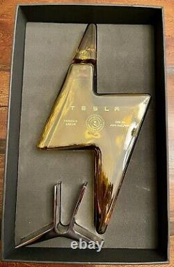 Tesla Tequila Bottle (EMPTY) Collectors Item In Hand Sold Out Online Teslaquila