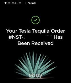 Tesla Tequila Bottle Empty/Tesla Stand/Original Box Sold Out/Limited Edition