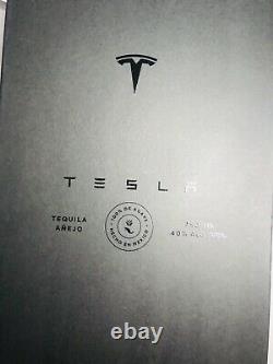 Tesla Tequila EMPTY BOTTLE & Stand & Box