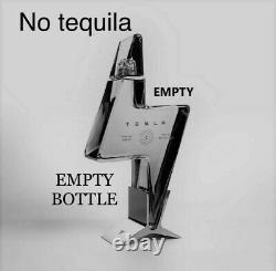Tesla Tequila EMPTY BOTTLE & Stand COLLECTORS ITEMS PRE-SALE