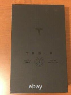 Tesla Tequila EMPTY BOTTLE & Stand LIMITED AND SOLD OUT In Hand Teslaquila