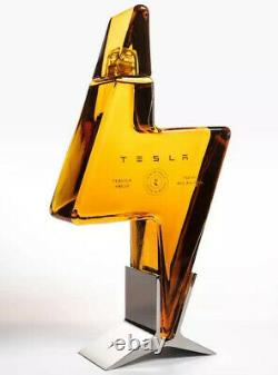 Tesla Tequila Empty Bottle & Bottle Stand Only. Collectors Item Pre-Sale