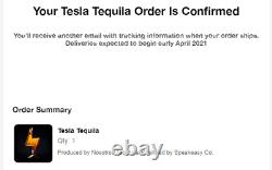 Tesla Tequila Empty Bottle + Stand + Box CONFIRMED ORDER, SHIPS FREE