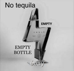Tesla Tequila Empty Bottle & Stand Only SOLD OUT everywhere! -Presale