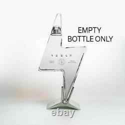 Tesla Tequila Empty Bottle + Stand SOLD OUT BRAND NEW, IN HAND, FAST SHIP