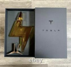 Tesla Tequila Lightning Bottle, Stand and Box Decanter