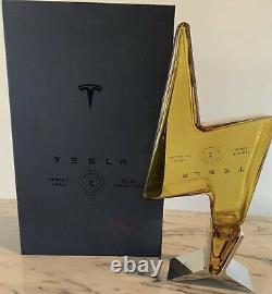 Tesla Tequila Lightning EMPTY Bottle With Stand and Box Decanter Collectible
