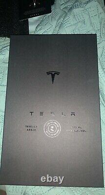 Tesla Tequila Lightning EMPTY Bottle With Stand and Box Packaging