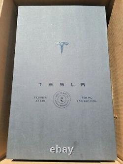 Tesla Tequila Lightning Empty Bottle With Stand and Box Collectible