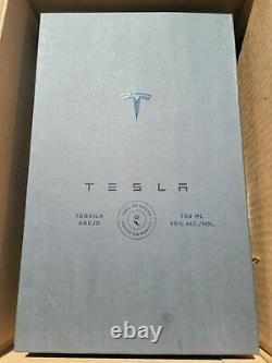Tesla Tequila Lightning Empty Bottle With Stand and Box Collectible Elon Musk