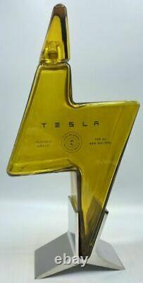 Tesla Tequila Lightning Empty Bottle With Stand and Box Collectible FREE SHIP