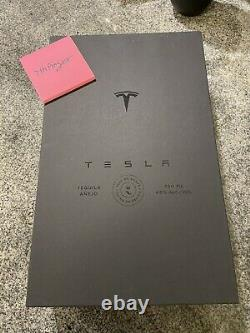 Tesla Tequila Limited Edition EMPTY Bottle With Stand & Box In hand