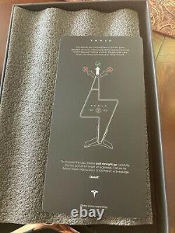 Tesla Tequila Limited Edition Lightning Bottle, Lid, Box & Stand -Empty Tequilla