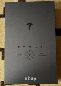 Tesla Tequila Ltd. Edition Lightning Bottle, Lid, Box & Stand Empty, No Liquor