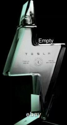 Tesla Tequila Pre Order- EMPTY BOTTLE, Stand, Packaging