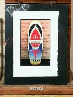 Tesla Tequila, Surfboard, Limited Edition Print, Hand Signed Fairchild Paris