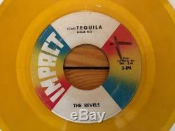 The Revels Intoxica / (Like) Tequila 1961 Impact 3-IMX 45 Yellow Vinyl VG