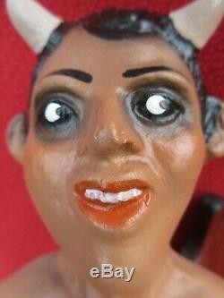 Tlaquepaque Ceramic Pablo Goche XL Nasty Naked Devil Holding Cigarette & Tequila