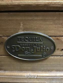 VINTAGE Tequila Reserva de Don Julio EMPTY Wooden Wood Collectible Box