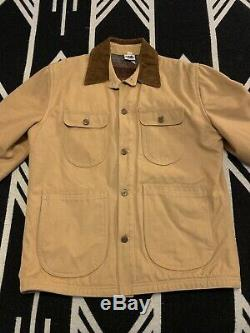 VTG 1970s Patagonia Range Wool Lined Canvas Jacket Tequila Gold RARE Mens M