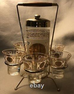 Vintage 1950S Space-Age Alcohol Tequila Margarita Drink Shaker Carry Set Mexico