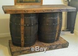 Vintage Agave Tequila Barrel Bar Home Decor or Accent Piece