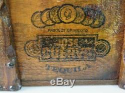 Vintage JOSE CUERVO Tequila Wooden Box / Crate