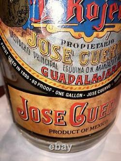 Vintage Jose Cuervo LA ROJENA Tequila Gallon Glass Bottle Rare 1970s Rare