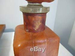 Vintage Jose Cuervo Leather Tequila Bottle & Box 1800 Collectible