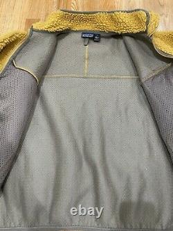Vintage PATAGONIA Retro Cardigan Tequila Gold Pile Fleece Jacket Made usa Sz L