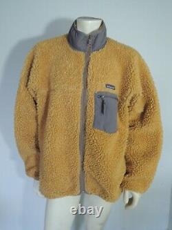 Vintage Patagonia RETRO CARDIGAN Tequila Gold Pile Fleece Jacket USA MADE Sz XXL