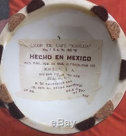 Vintage Rare KAHLUA Decanter Mexico Aztec Mayan Tequila Liquor Bottle Set Of 4
