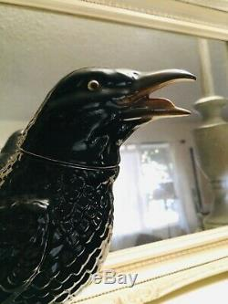 Vintage Tequila Jose Cuervo Crow Decanter / bottle Made in Germany Raven / Black