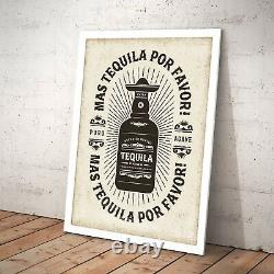 Vintage Tequila Mexican Bar Cafe Decor Art Poster Print A3 A2 A1 A0 Framed