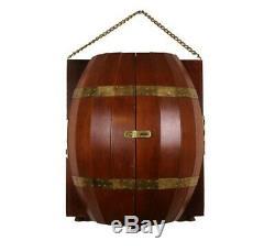Vintage Wood Barrel Bar Man Cave Whiskey Barrel Gin Tequila Rum Wall Mount