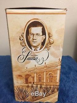 Vintage tequila sauza tres generaciones, box and bottle