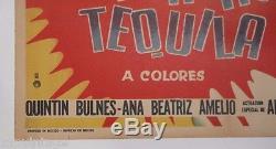 Vtg Mexican Movie Poster 1970 Pancho Tequila (Alberto Vazquez / Maria Duval)