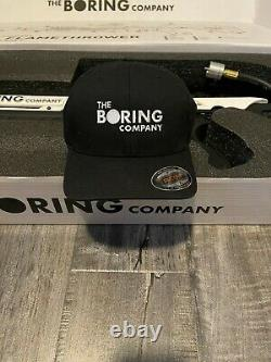 WOW The Boring Company Not A Flamethrower + Empty Tesla Tequila + $5 +Boring Hat